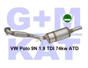 Partikelfilter Vw Polo 9N 1.9 74kw ATD 01.37.030