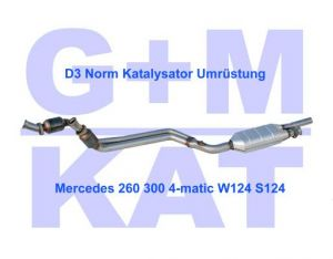Katalysator Mercedes 260 300 4-matic 124 G+M 400171-D3