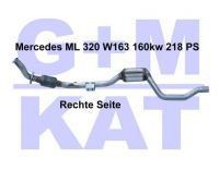 Katalysator Mercedes ML 320 W163...